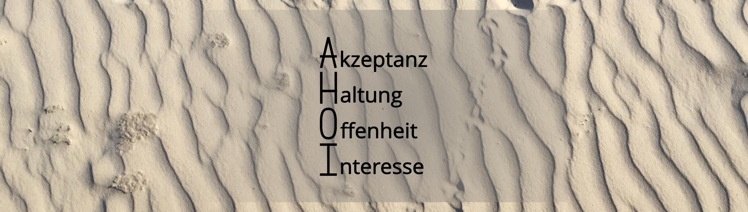 AHOI - Akzeptanz, Haltung, Offenheit, Interesse